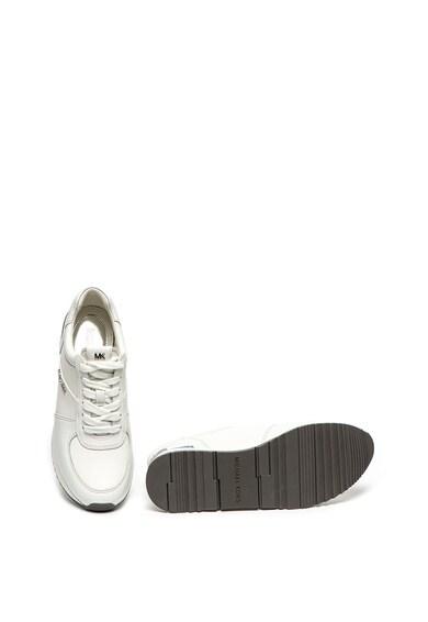 Michael Kors Pantofi sport de piele cu aplicatie logo metalizata Allie Femei
