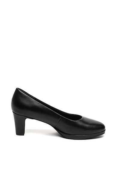Marco Tozzi Кожени обувки с масивен ток Жени
