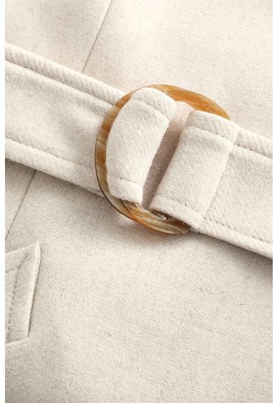 Mango Haina din amestec de lana, cu o curea Venus Femei