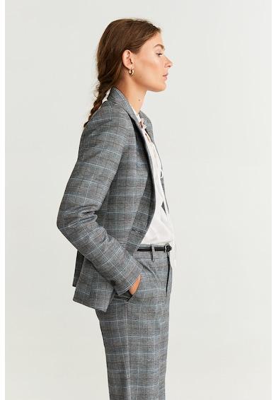 Mango Pantaloni cu model in carouri Borecuad Femei