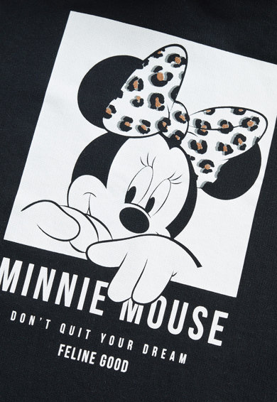 Mango Rochie dreapta cu gluga si imprimeu cu Minnie Mouse Feline Fete