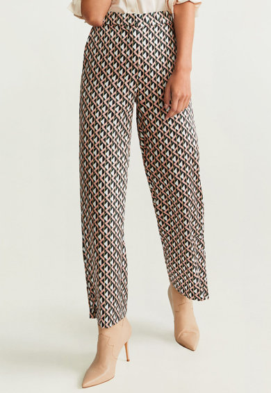 Mango Pantaloni drepti cu imprimeu Femei