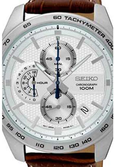 Seiko Ceas cronograf cu o curea de piele Barbati