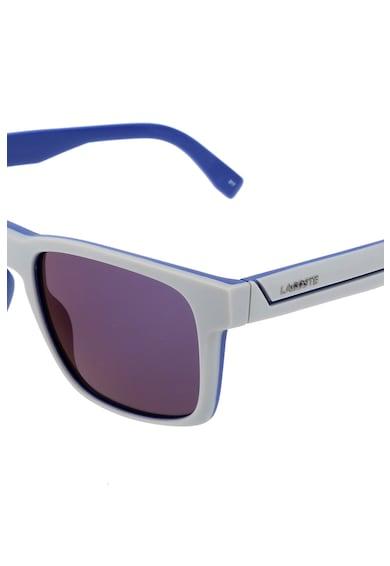Lacoste Квадратни слънчеви очила с десен в цветен блок Мъже