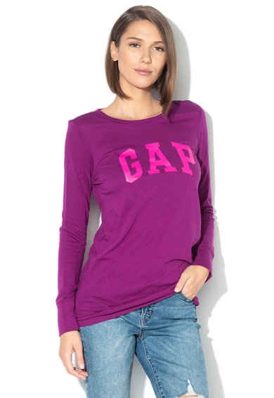 GAP Bluza din bumbac cu imprimeu logo Femei