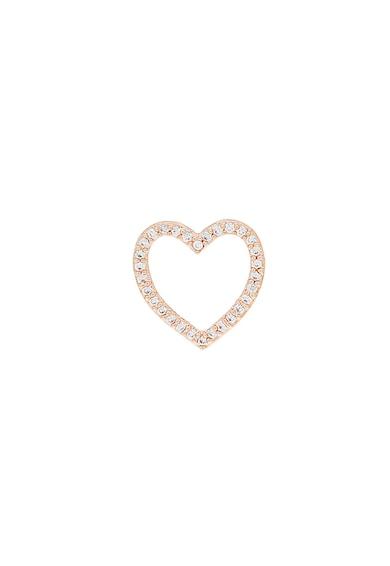 U.S. Polo Assn. Cercei in forma de inima, cu tija si cristale zirconia Femei