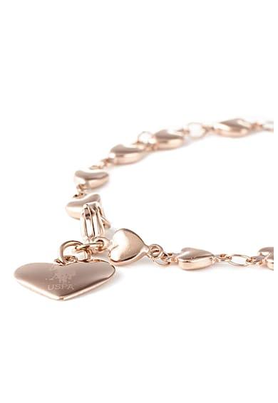 U.S. Polo Assn. Bratara cu pandantiv in forma de inima Femei