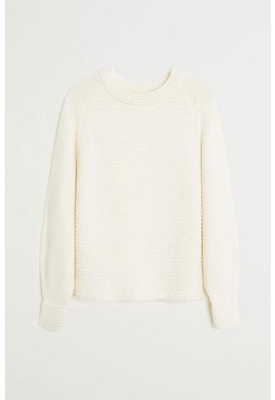 Mango Pulover din tricot cu perforatii Paris Femei
