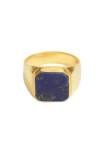 Mango Inel placat cu aur de 24K, decorat cu pietre semi-pretioase Rubens Femei