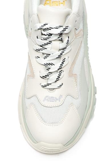 ASH Pantofi sport de piele, cu insertie de plasa Addict Femei
