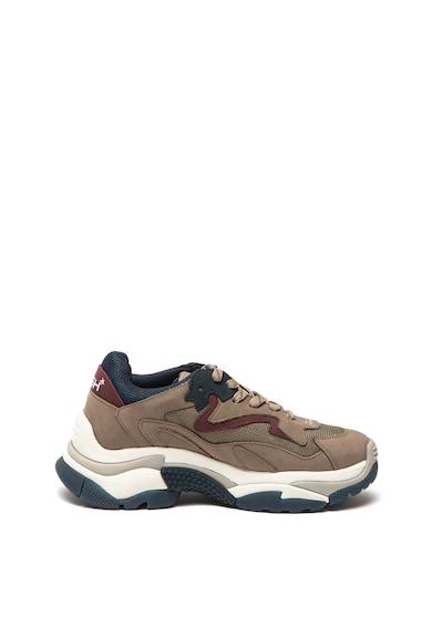 ASH Pantofi sport de piele nabuc, cu insertii textile Addict Femei