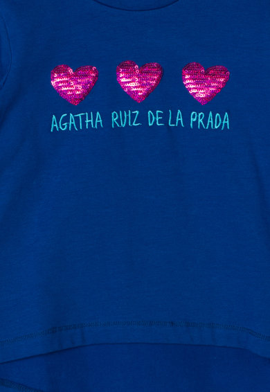 Agatha Ruiz de la Prada Bluza cu aplicatii de paiete Love Tile Fete