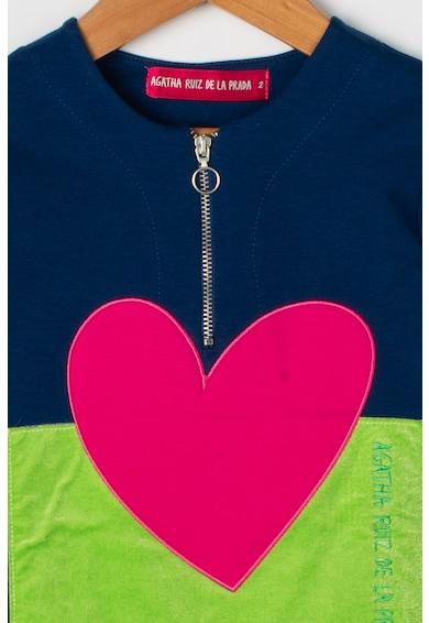 Agatha Ruiz de la Prada Rochie dreapta si aplicatie in forma de inima Love Tiles Fete