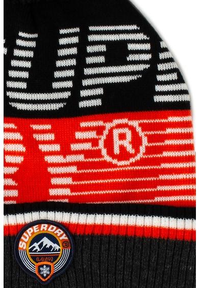 SUPERDRY Caciula tricotata fin cu ciucure si logo Barbati