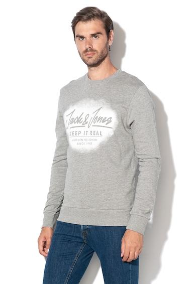 Jack&Jones Bluza sport cu imprimeu text Sprayed Barbati