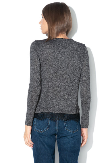 Vero Moda Pulover din tricot fin cu garnitura de dantela Brianna Femei