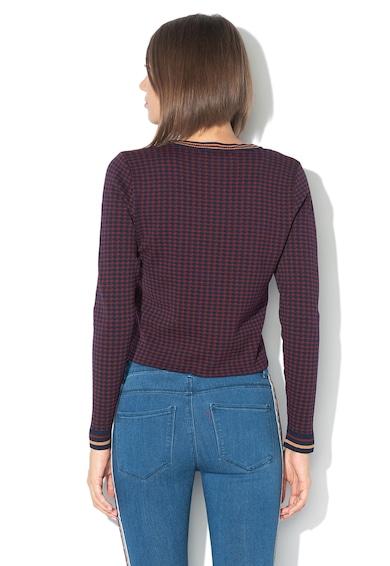 Only Pulover tricotat fin cu model houndstooth Zandra Femei