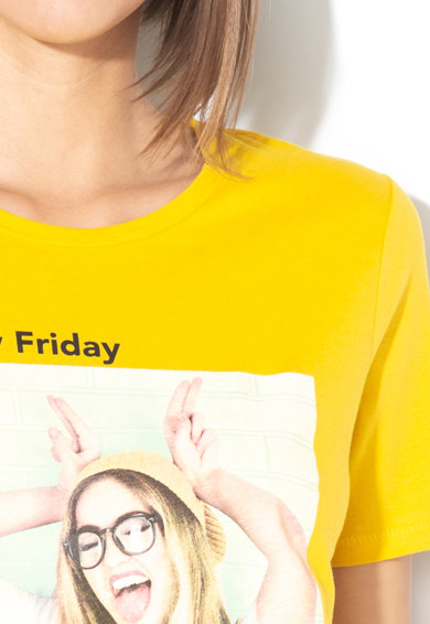 Only Tricou cu model grafic si text Weekday Femei