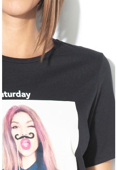Only Tricou cu model grafic si text Weekday Femei