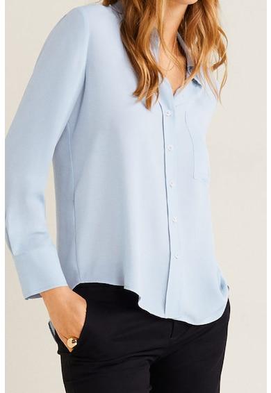 Mango Риза с дълги ръкави и джобове на гърдите Жени
