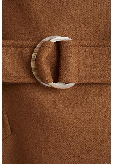 Mango Palton din amestec de lana cu o curea Venus Femei