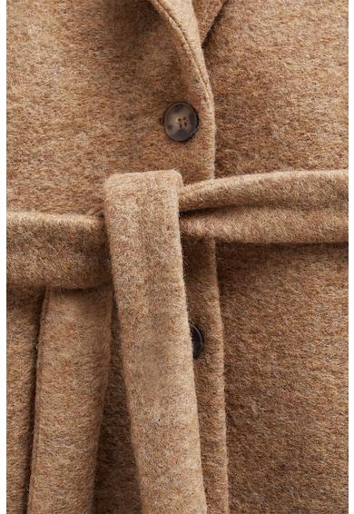 Mango Panton din amestec de lana cu o curea Lisi Femei