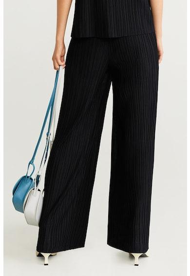 Mango Плисиран панталон Plipant с широк крачол Жени
