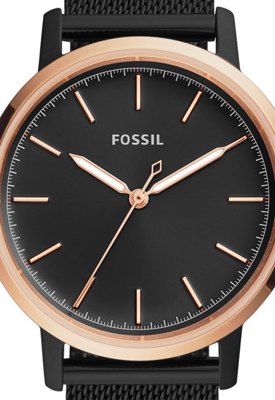 Fossil Аналогов часовник с мрежеста гривна Жени