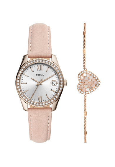 Fossil Set de ceas si bratara decorat cu cristale Femei
