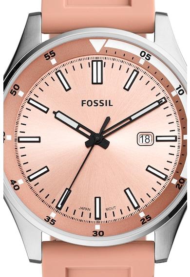 Fossil Ceas analog cu o curea de silicon Femei