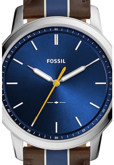 Fossil Аналогов часовник с кожена каишка Мъже