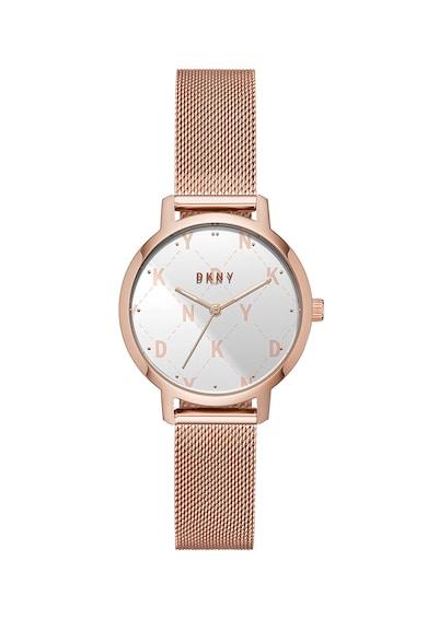DKNY Часовник The Modernist с мрежеста верижка Жени