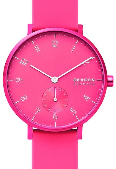 Skagen Часовник Aaren със силиконова каишка Жени
