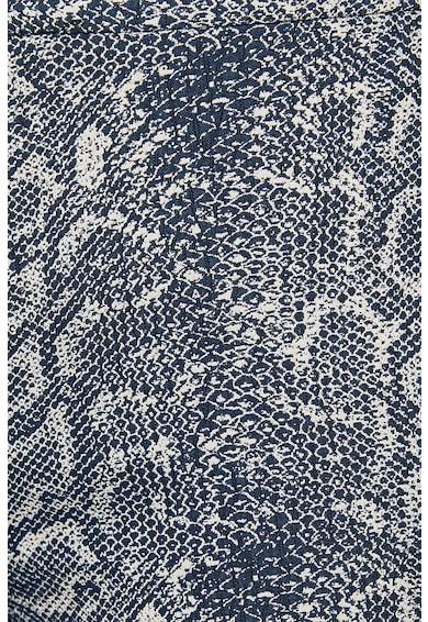 KOTON Pantaloni crop cu model piele de reptila Femei