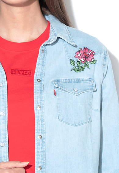 Levi's Риза от деним с бродерии Жени