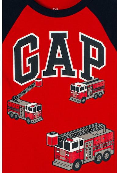 GAP Bluza cu imprimeu logo si maneci raglan Baieti