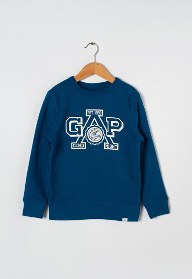 GAP Bluza sport cu imprimeu logo si decolteu la baza gatului Baieti