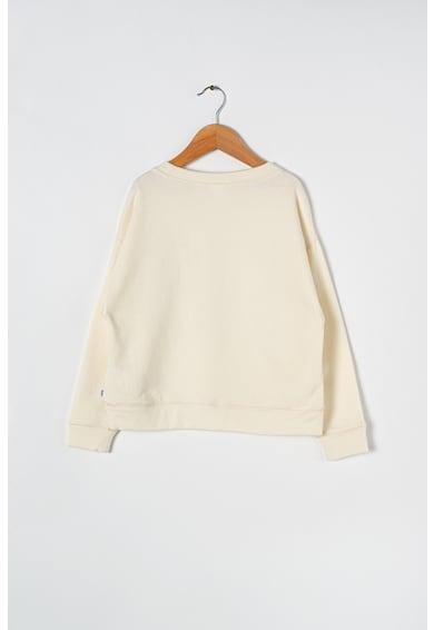 GAP Bluza sport cu imprimeu logo si decolteu la baza gatului Fete