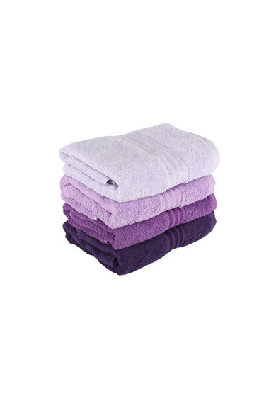 Hobby Комплект 4 кърпи  70x140 см, 100% памук, Лилав Жени