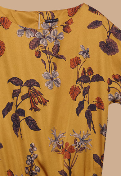Fiorella Rubino Блуза с флорален десен и къси ръкави Жени