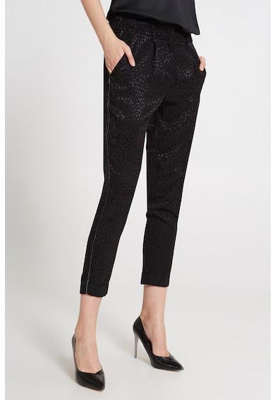 Motivi Pantaloni evazati cu model cu stele Femei