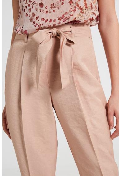 Motivi Pantaloni cu cordon detasabil in talie si textura matasoasa Femei