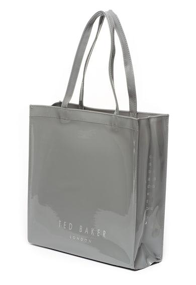 Ted Baker Geanta shopper lucioasa, cu detaliu funda Femei