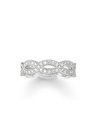 Thomas Sabo Inel de argint veritabil 925, decorat cu cristale zirconia Femei