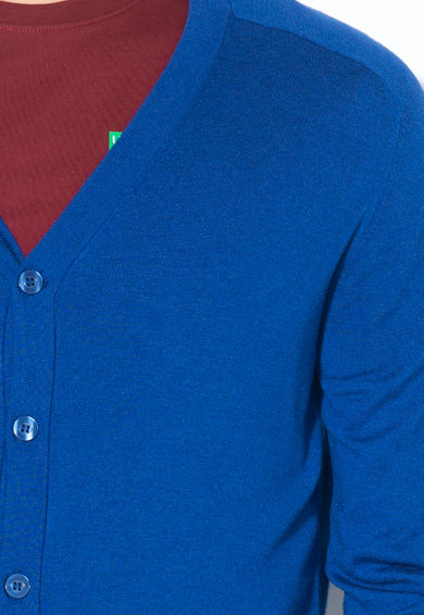 United Colors of Benetton Cardigan tricotat fin, cu nasturi Barbati