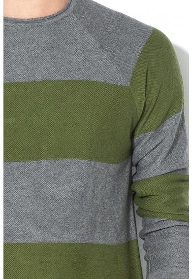 United Colors of Benetton Pulover din tricot fin, cu model in dungi Barbati