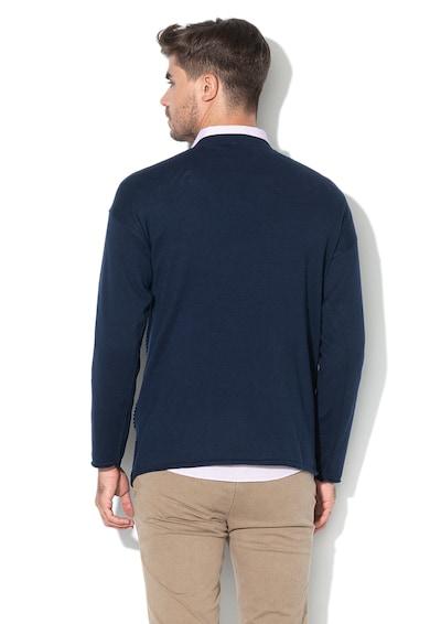 United Colors of Benetton Pulover din amestec de lana cu detalii texturate Barbati