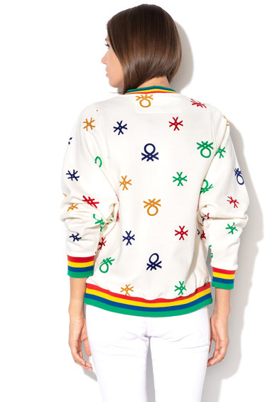United Colors of Benetton Bluza sport din bumbac organic, cu imprimeu Femei
