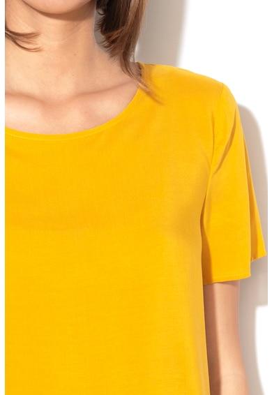 United Colors of Benetton Bluza lejera cu terminatie asimetrica Femei