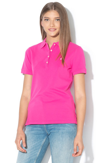 United Colors of Benetton Tricou polo cu logo brodat Femei